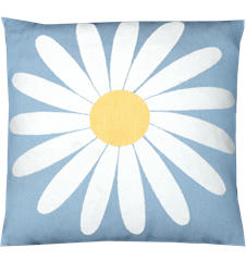 Cushion cover 45x45 Daisy Light-blue