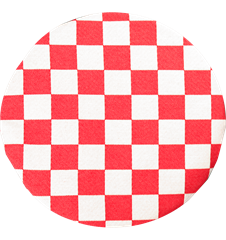 Seat cushion Checkered Red