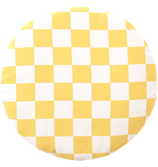 Seat cushion Checkered Yellow