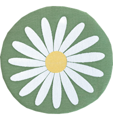 Seat cushion Daisy Green