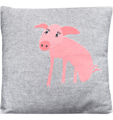 Cushion 45 cm Pig soft