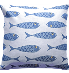 Cushion cover 45x45 Fish Small