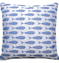Cushion cover 45x45 Fish Mini
