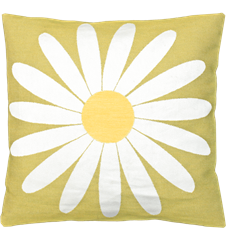 Cushion cover 45x45 Daisy Lime