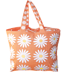 Sac de Plage Marguerites Orange
