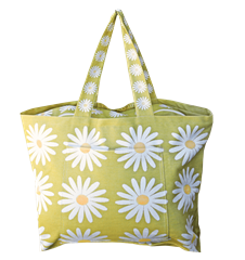 Beach bag Prästkrage Lime