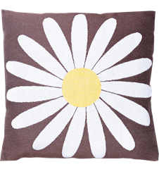 Cushion cover 30x30 Daisy Brown