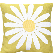 Cushion cover 30x30 Daisy Lime