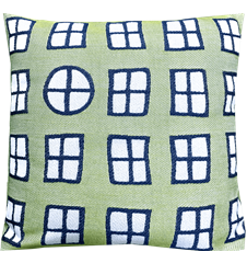 Cushion cover 30x30 Window Green