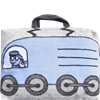 Train cushion/bag Engine Blue