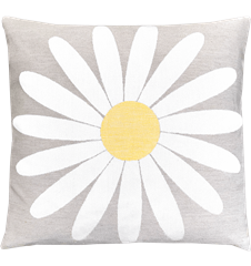 Cushion 45 cm Daisy Light-grey