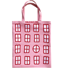 Tote bag Small Windows Pink
