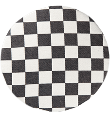 Seat cushion Checkered Black