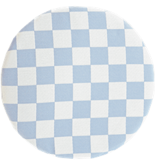 Seat cushion Checkered Light-blue