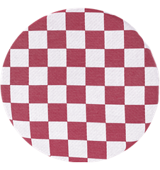 Seat cushion Checkered Wine Red