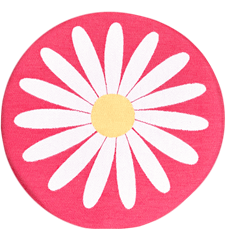 Seat cushion Daisy Dark Pink