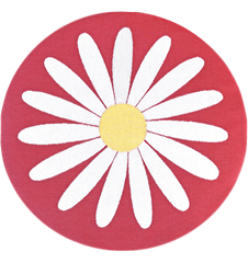 Seat cushion Daisy Red