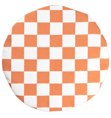 Seat cushion Checkered Orange