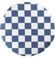 Seat cushion Checkered Blue
