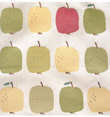 Fabric 145cm Apples red