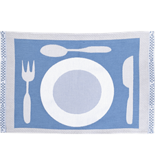 Table mat Plate Light-blue