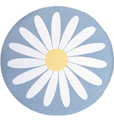 Seat cushion Daisy Light-blue