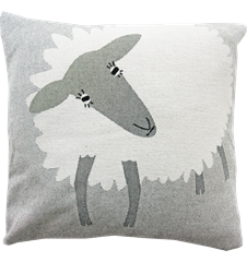 Cushion cover 45x45 Sheep Black and White