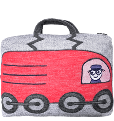 Train cushion/bag Engine Red