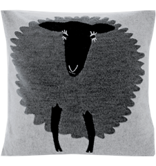 Cushion cover 45x45 Sheep Grey