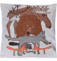 Cushion Cover 45x45 Swedish Animals