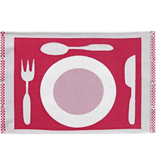 Set de Table Assiette Rouge