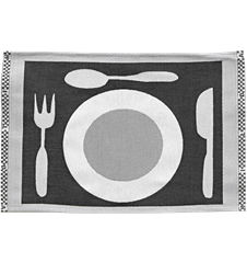 Set de Table Assiette Noir