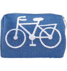 Toilet bag 12cm Bicycle Sky Blue