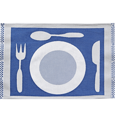 Table mat Plate Blue