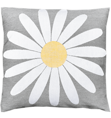 Cushion cover 45x45 Daisy Grey