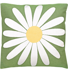 Cushion cover 45x45 Daisy Green
