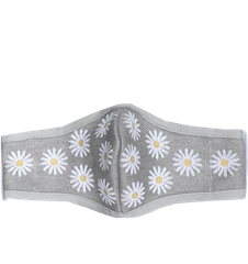 Mask Daisy Light Gray