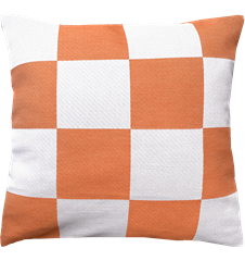 Cushion cover 45x45 cm Checkered Orange