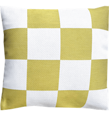Cushion cover 45x45 Check Lime