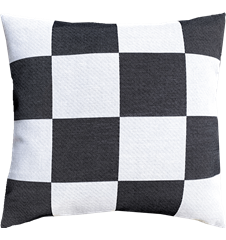 Cushion cover 45x45 Check Grey