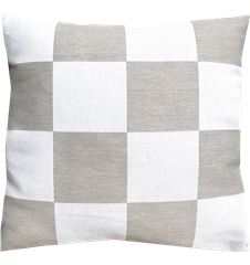 Cushion cover 45x45 Check Light-grey