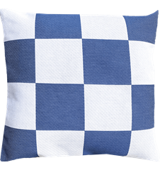 Cushion cover 45x45 Check Blue