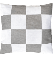 Cushion cover 45x45 Checkered Grey